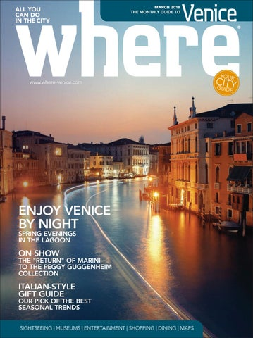 Where Magazine Venice Mar 2018 by Morris Media Network - issuu