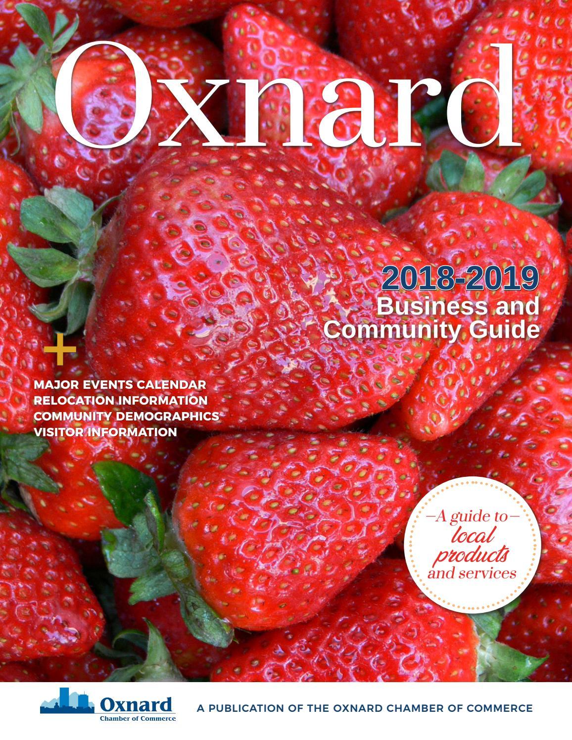 Strawberry Festival 2020 Oxnard.2018 2019 Oxnard Chamber Community Business Guide By