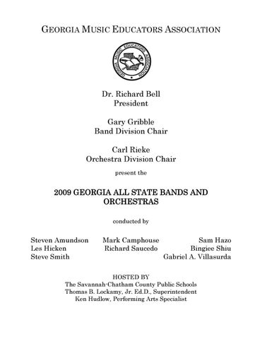 2009 GMEA All-State Band & Orchestra Program by Georgia