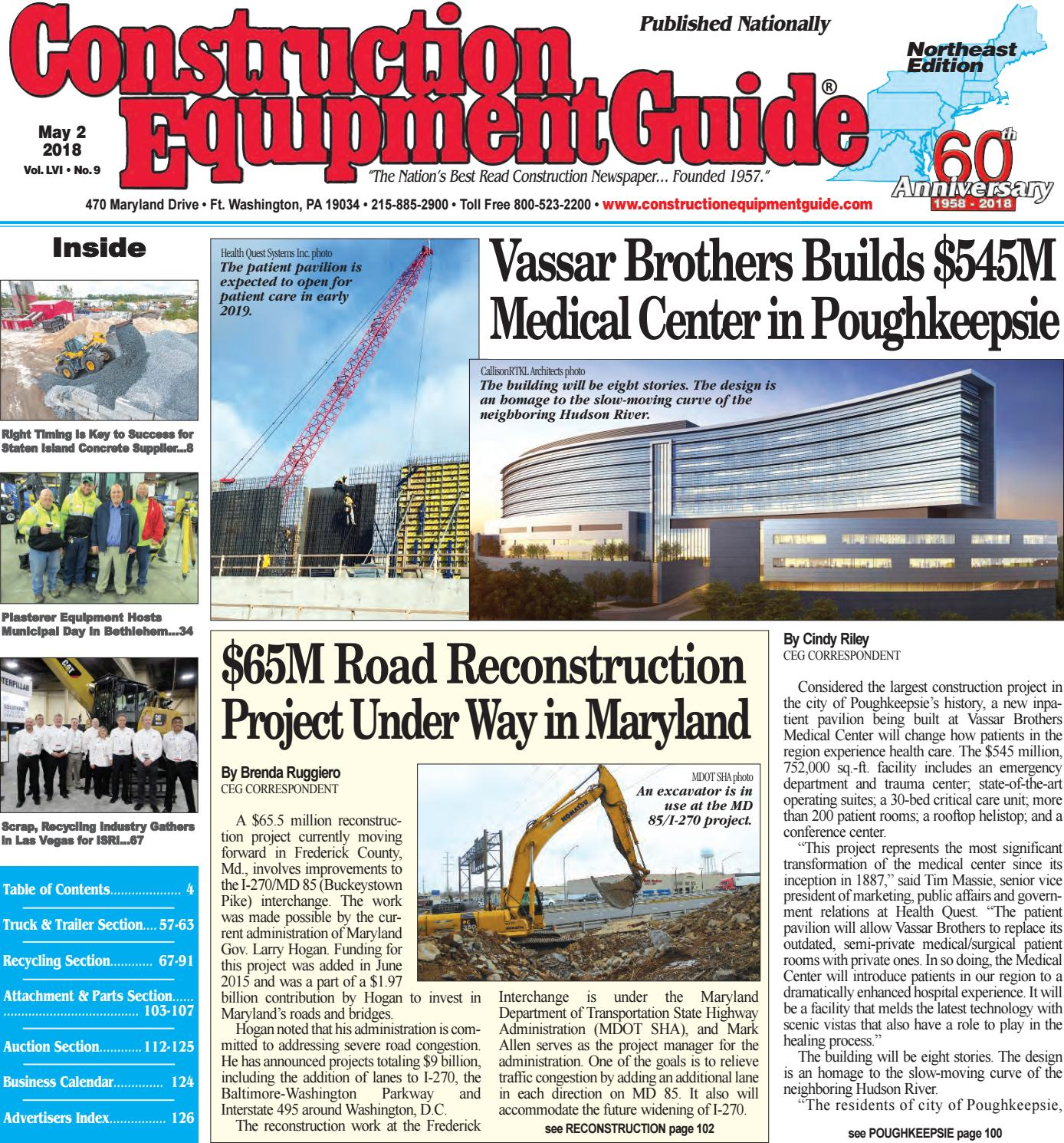 Northeast 9 May 2, 2018 by Construction Equipment Guide - issuu
