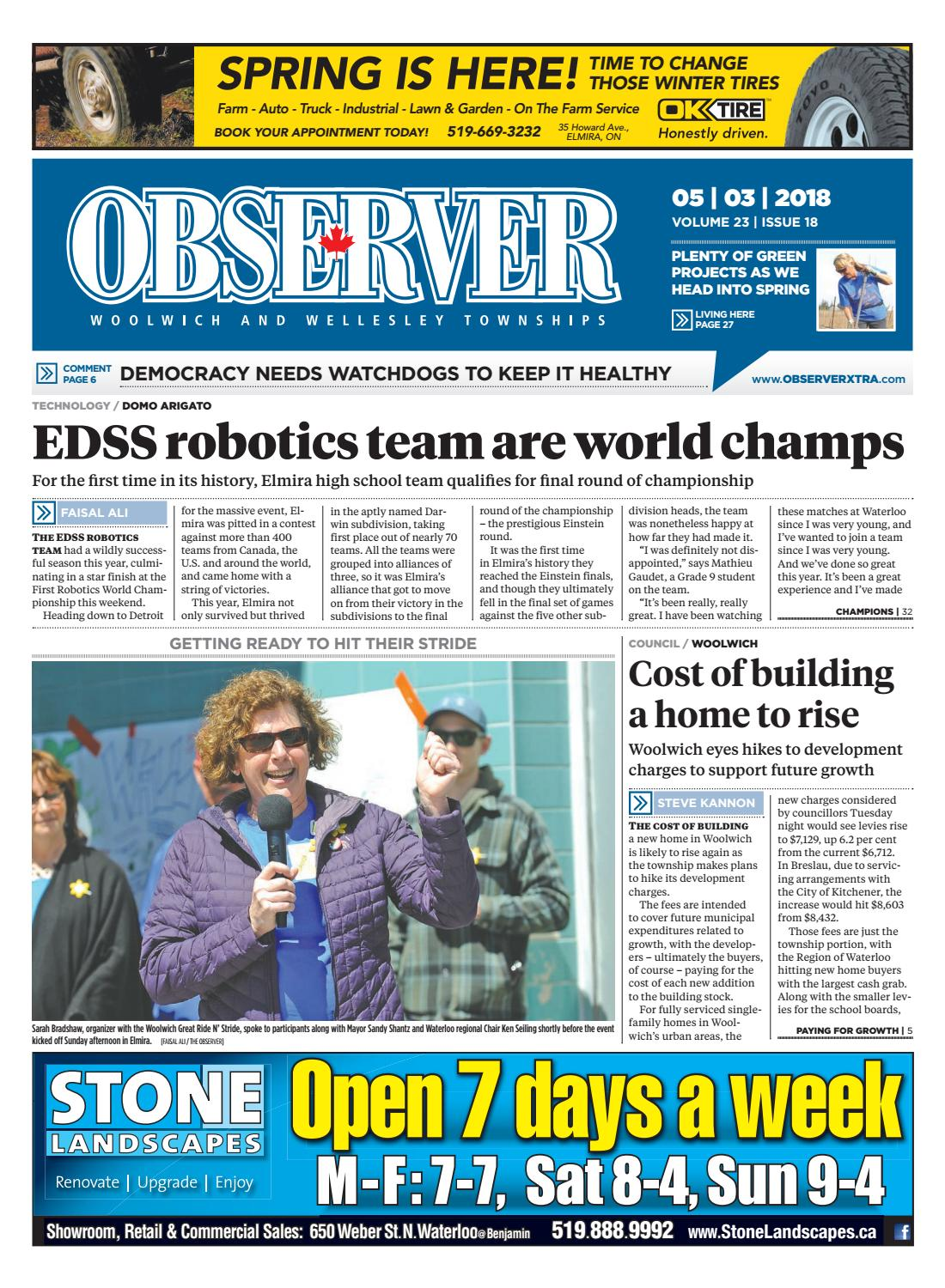 Observer May 3, 2018 Online by Woolwich Observer - issuu