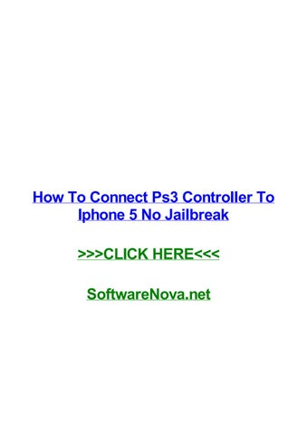 How to connect ps3 controller to iphone 5 no jailbreak by