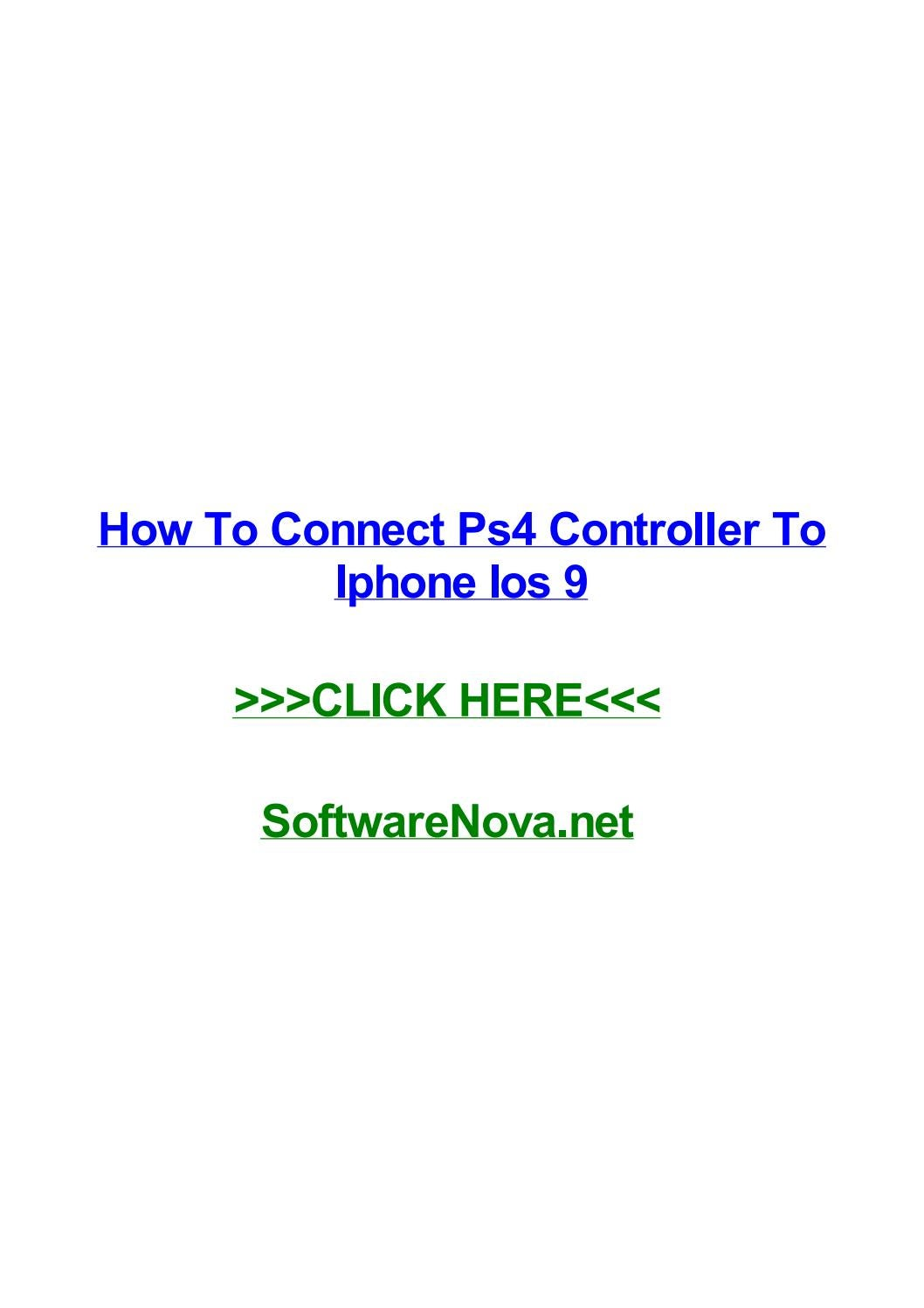 How to pair ps4 controller to iphone without jailbreak | How to