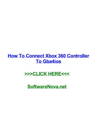 How to connect xbox 360 controller to gba4ios by robertnfjpw