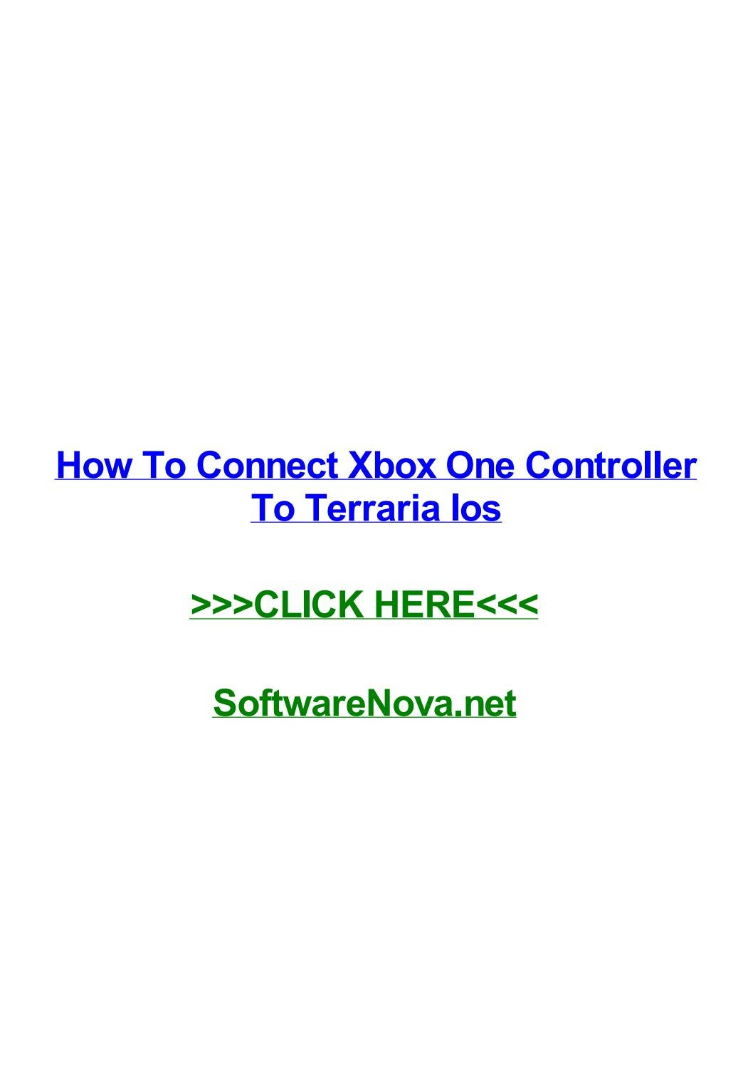 How to connect xbox one controller to terraria ios by