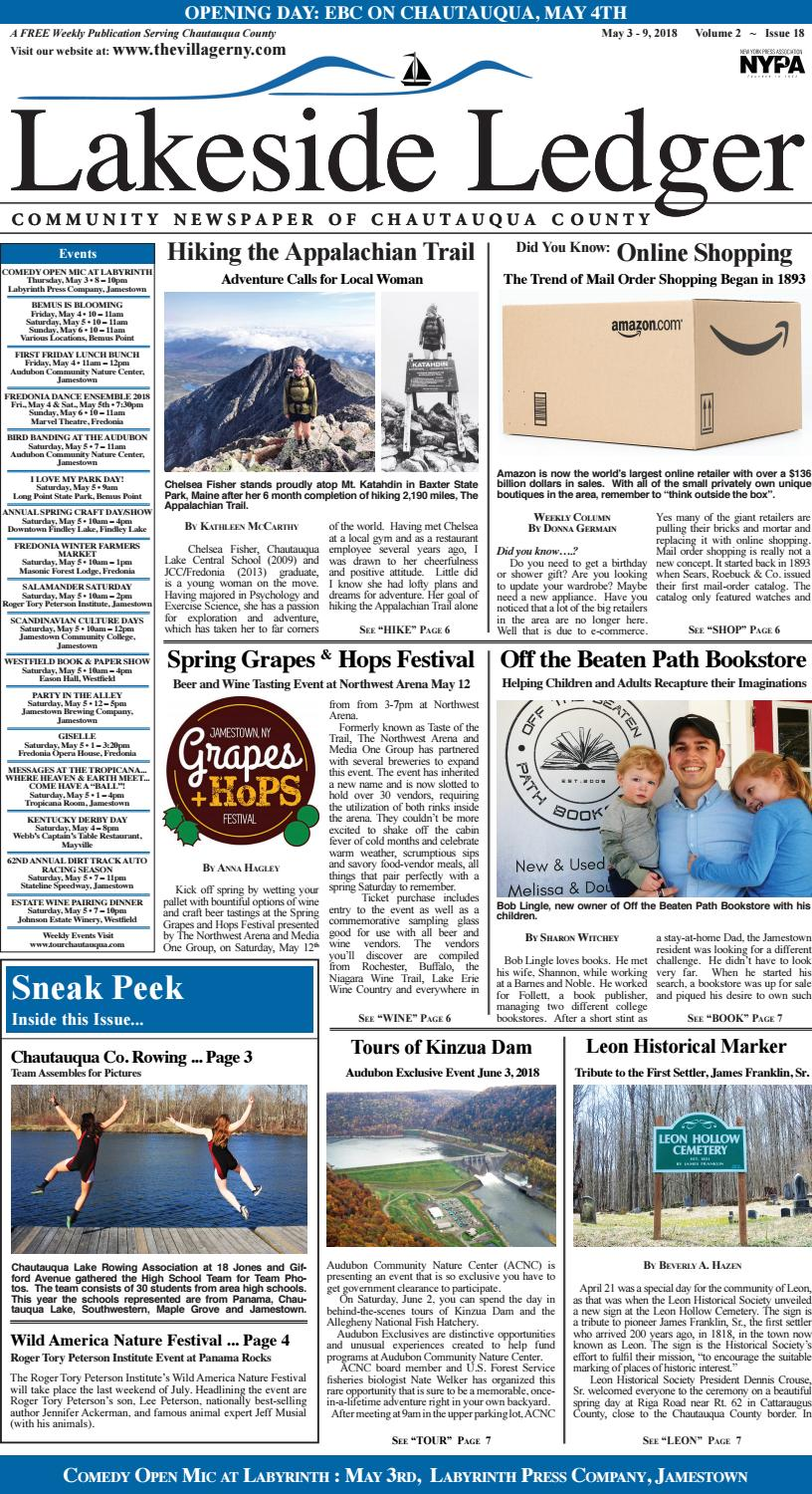 The ledger may 3 9, 2018 volume 2 issue 18 by Jeanine Zimmer