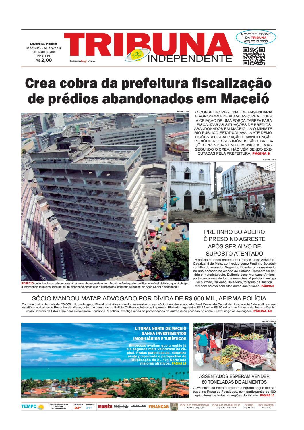 ec995488f55 Edição número 3136 - 3 de maio de 2018 by Tribuna Hoje - issuu