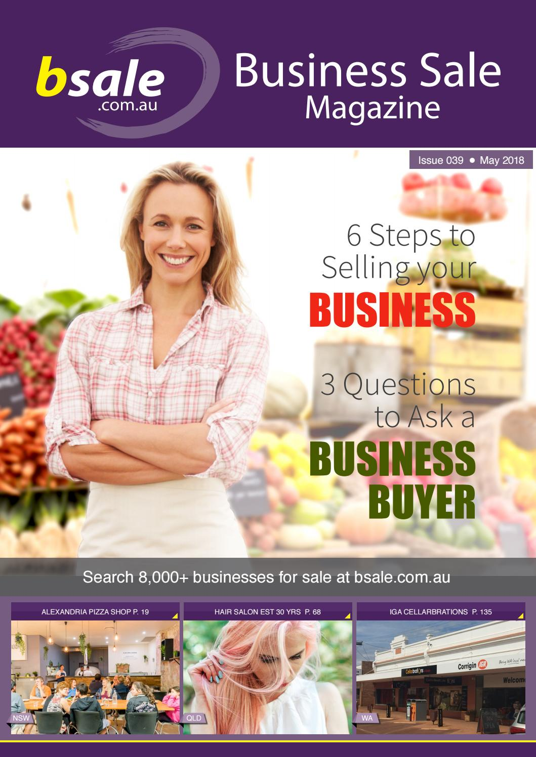 Business for Sale Magazine May 2018 by BSALE Australia - issuu