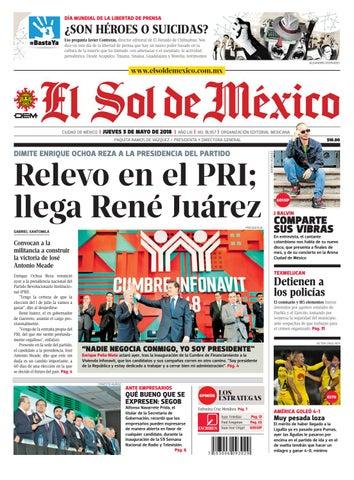 El Sol de México 3 de mayo 2018