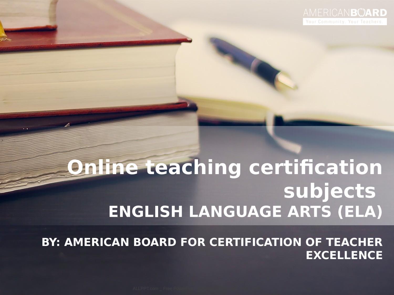 Online Teaching Certification Subjects By Matt Smith Issuu