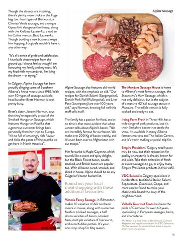 Page 15 of Your Link to Alberta's Finest Meat Products
