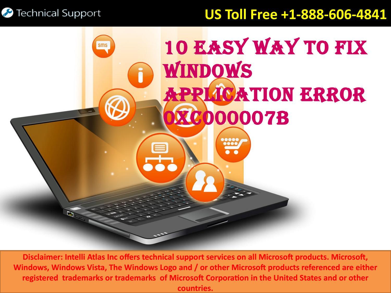 10 Easy Way to Fix Windows Application Error 0xc000007b by