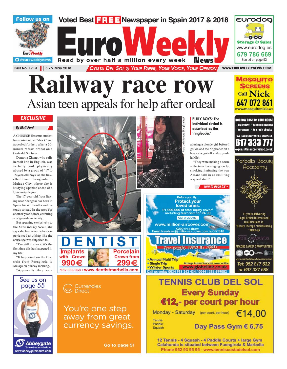 Euro Weekly News - Costa del Sol 3 - 9 May 2018 Issue 1713 by Euro Weekly  News Media S.A. - issuu