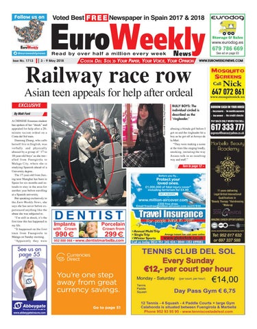 Euro weekly news costa del sol 3 9 may 2018 issue 1713 by euro voted best fandeluxe
