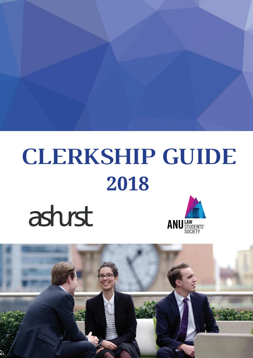 ANU LSS Clerkship Guide 2018 by