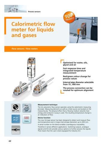 calorimetric flowmeter
