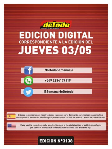 Semanario Detodo - Edición N° 3138 - 03/05/2018 by Semanario Detodo ...