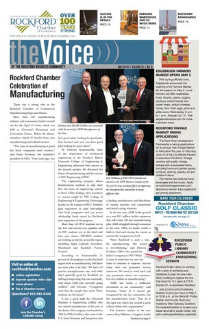 May Voice 2018 By Rockford Chamber Of Commerce Issuu