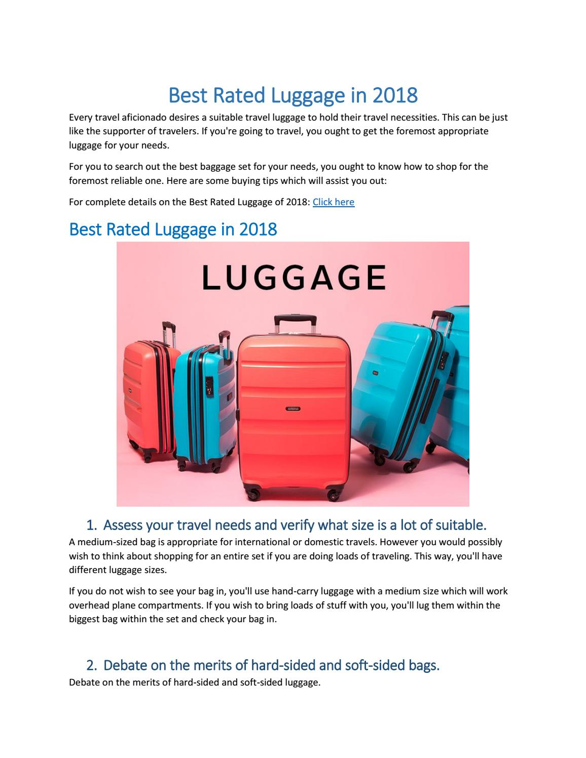 c9ffec3c69ee Best rated luggage of 2018 by haseebshaikh9 - issuu