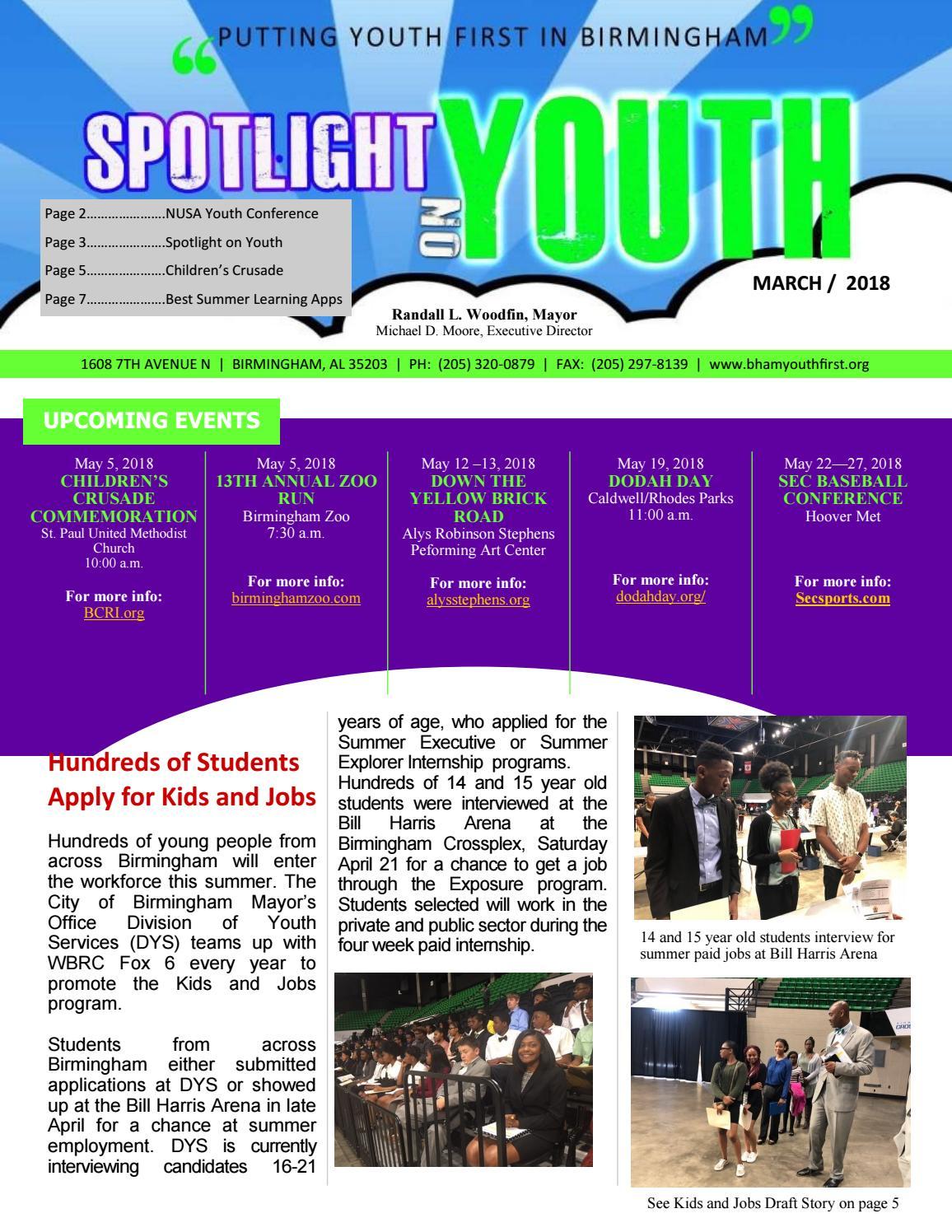 Spotlight on Youth May 2018 by City of Birmingham Mayor's