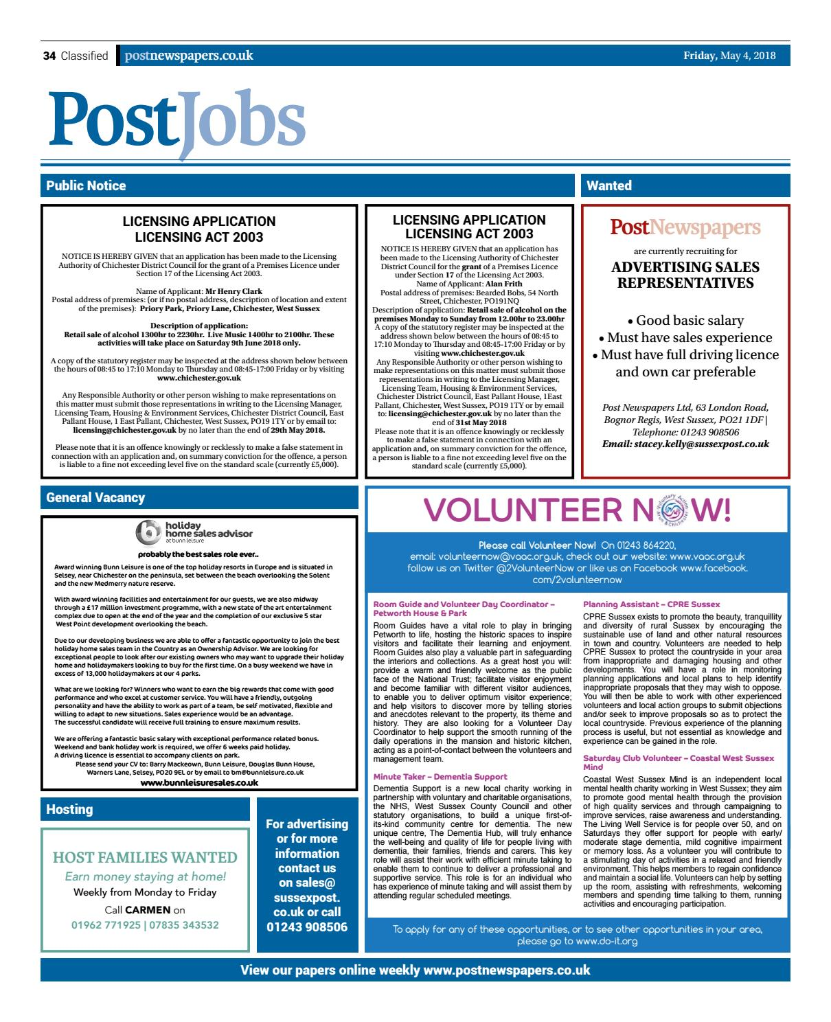 Chichester Post Issue 105 by Post Newspapers - issuu