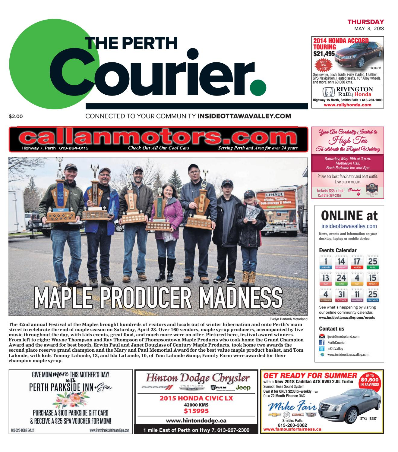 Otv P A 20180503 By Metroland East The Perth Courier Issuu Terry Palmer Premium Towel Bath Ampamp Travel 500g Set2tp1001 Set Of 2 Light Blue