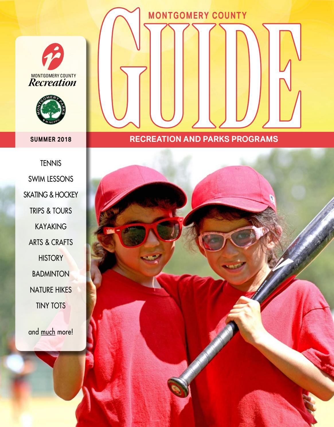 5aad661b7e4 Summer Guide 2018 by Montgomery County Recreation Dept. - issuu