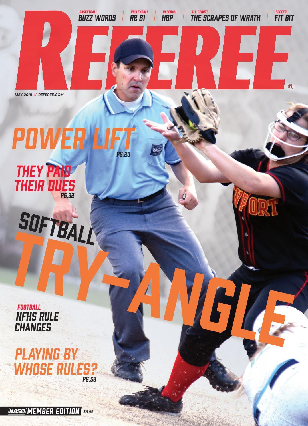 b69133d9c3a Referee Magazine - May 2018 by Referee Magazine - issuu