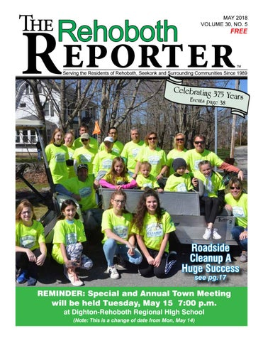 1b786878fa5f7 May 2018 Rehoboth Reporter by Dick Georgia - issuu