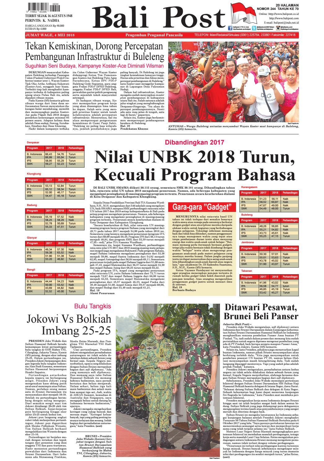 Edisi 4 Mei 2018 Balipostcom By E Paper Kmb Issuu Produk Ukm Bumn Suscho Sus Coklat Surabaya