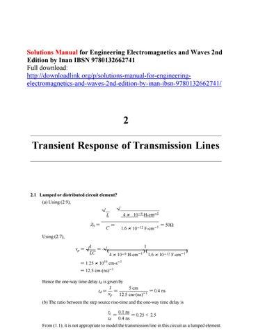 Engineering Electromagnetics Inan Pdf