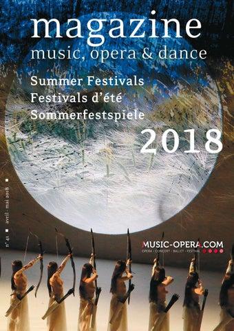 Magazine Music Opera Dance 2018 By Violaine Thielen Issuu