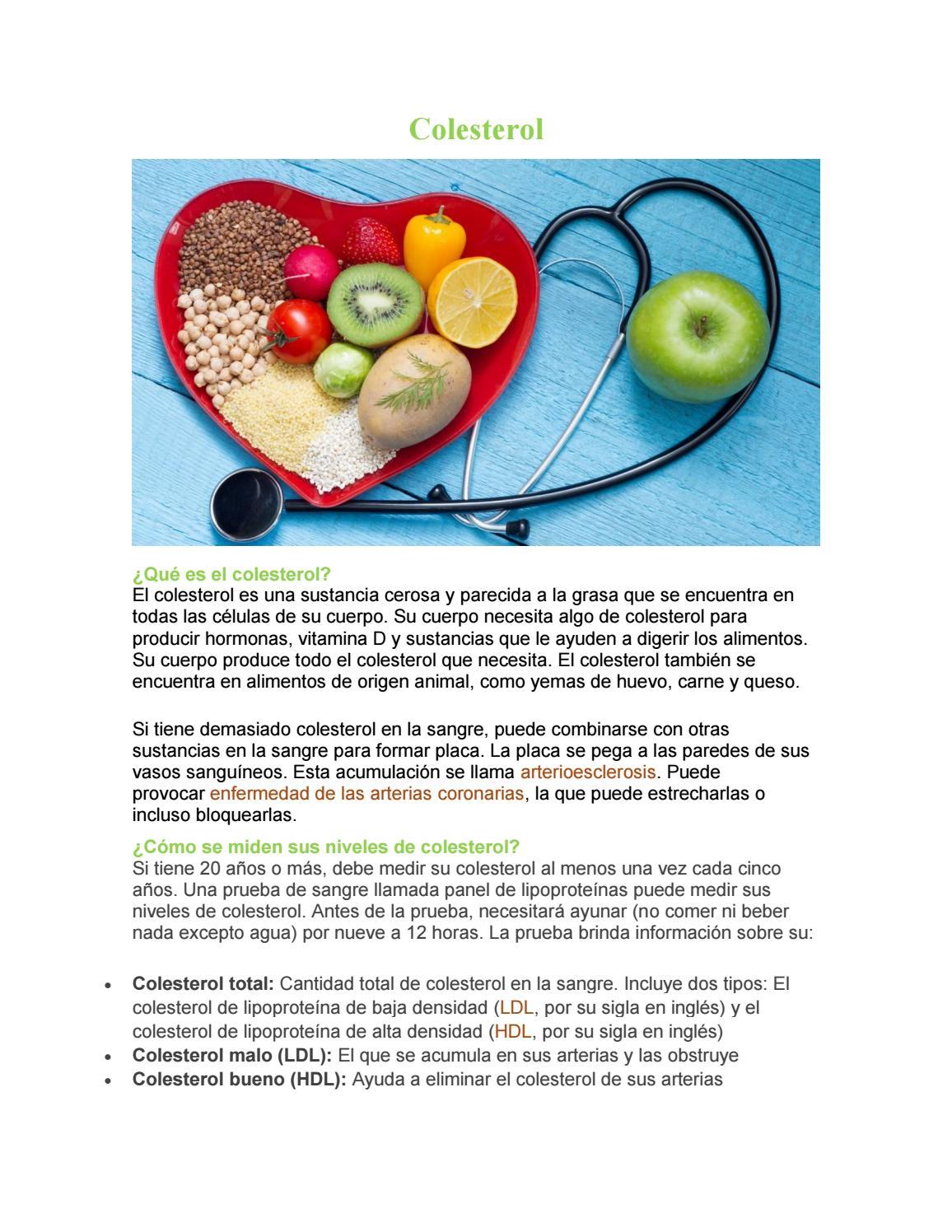 Colesterol cual es siglas el bueno