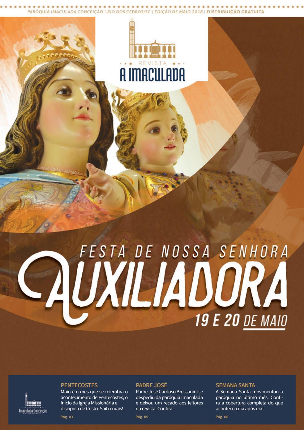 Revista A Imaculada - Edição Maio de 2018 by Agência Arcanjo - issuu bf15018a21