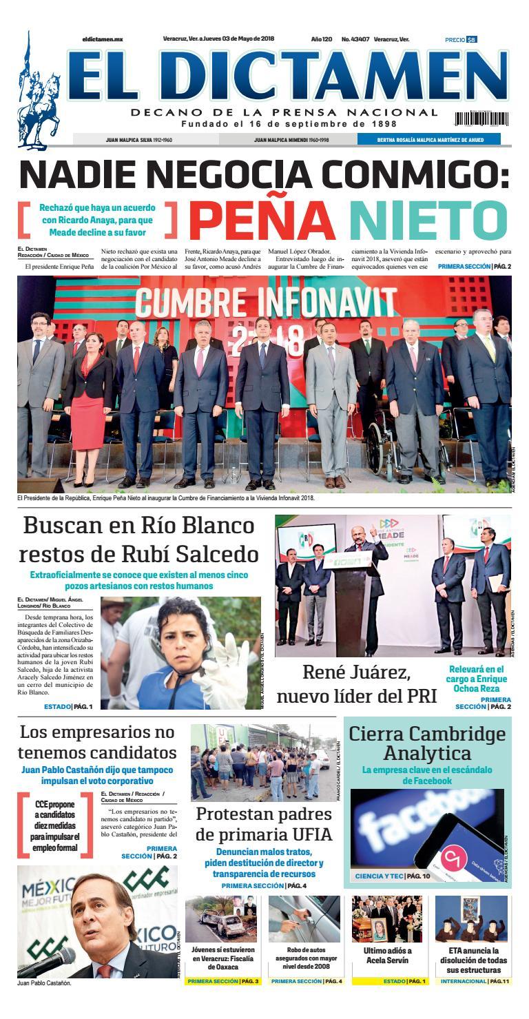 El Dictamen 03 de Mayo 2018 by El Dictamen - issuu