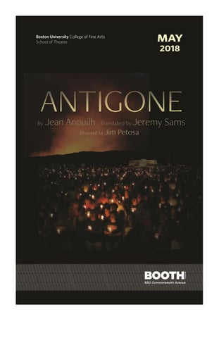 Jean Anouilh S ANTIGONE By Boston University College Of Fine