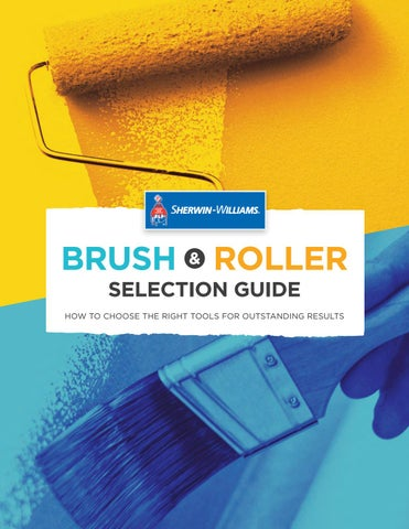Sherwin Williams Brush And Roller Guide    2018 By Sherwin Williams ...