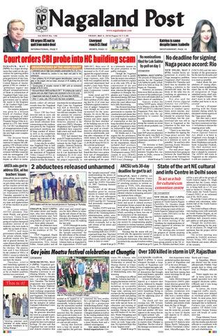May 4, 2018 by Nagaland Post - issuu