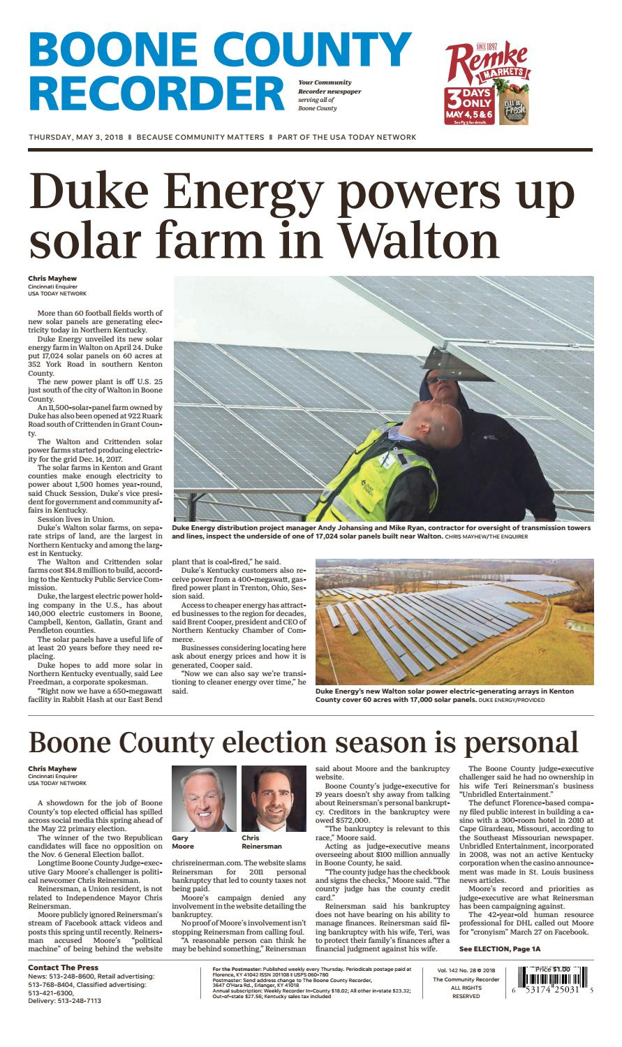 Boone county recorder 050318 by Enquirer Media - issuu