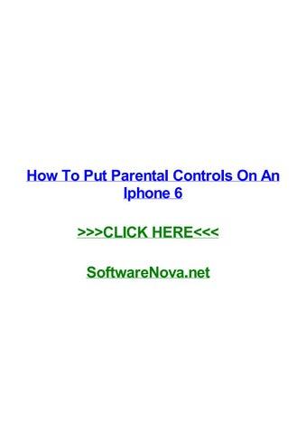 How do you put parental controls on an iphone