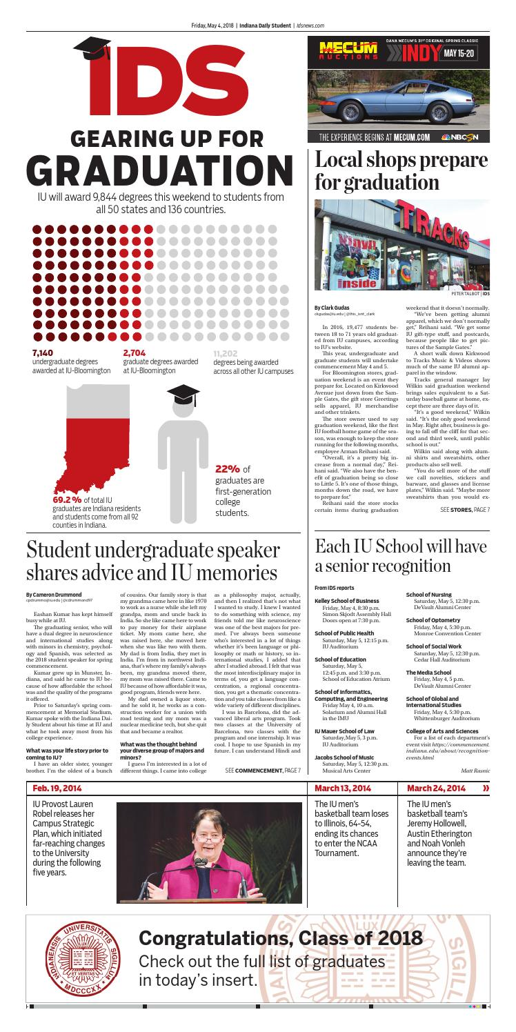 Friday, May 4, 2018 by Indiana Daily Student - idsnews - issuu