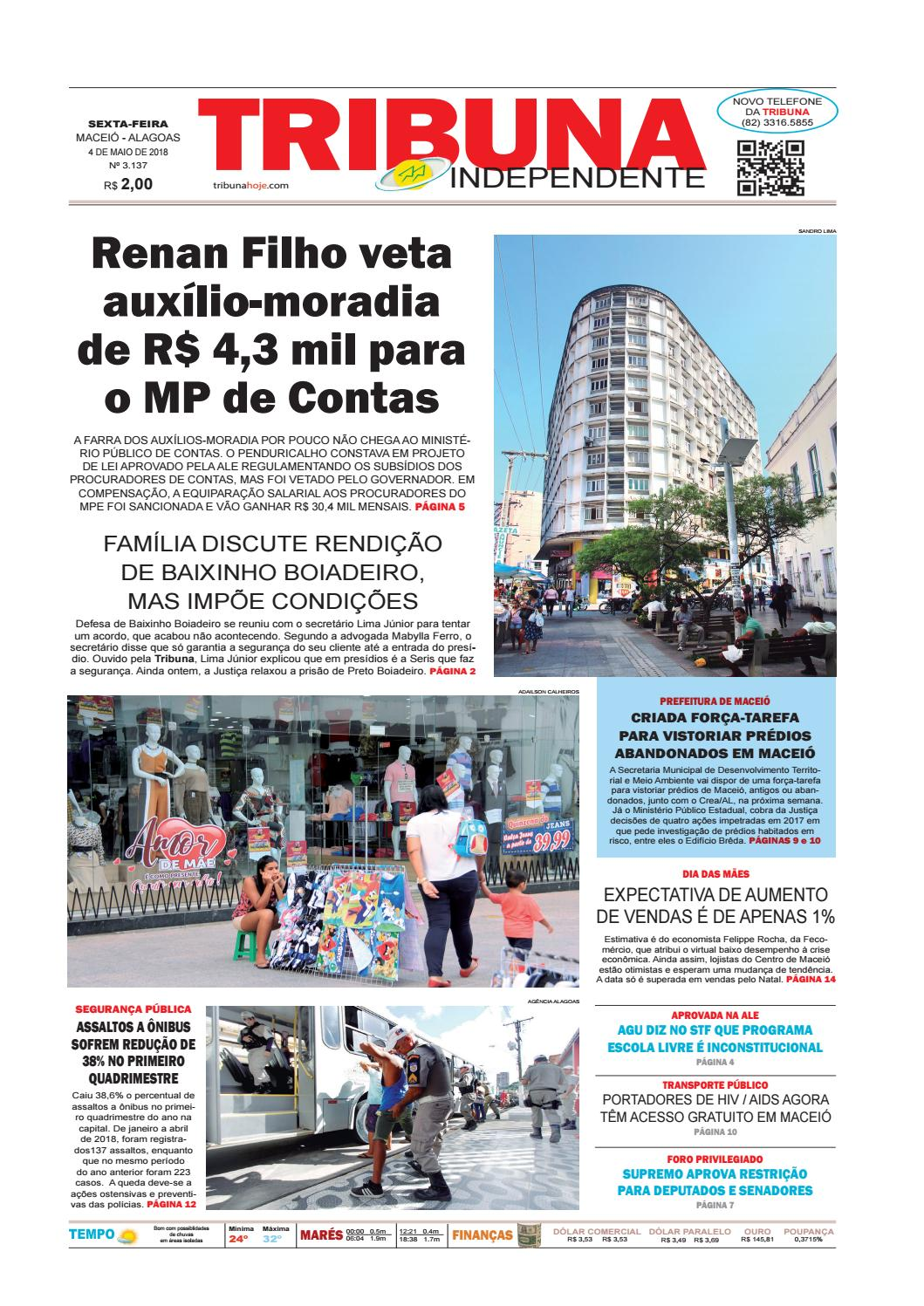 Edição número 3137 - 4 de maio de 2018 by Tribuna Hoje - issuu e7a68b5161