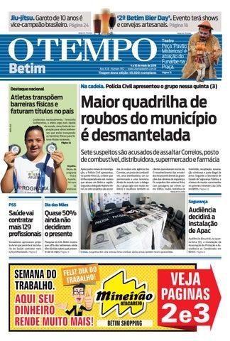 O Tempo Betim - 04 a 10 de maio de 2018 by Tecnologia Sempre Editora ... 290cf81f6e
