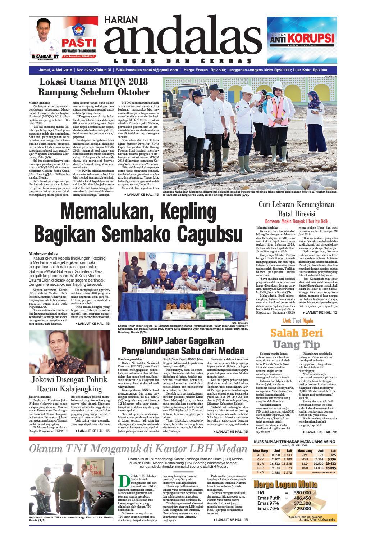 Epaper andalas edisi jumat 04 mei 2018 by media andalas - issuu 7f227de853