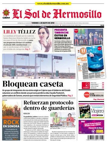 1d653cd48230 Edición impresa 4 de mayo 2018 by El Sol de Hermosillo - issuu