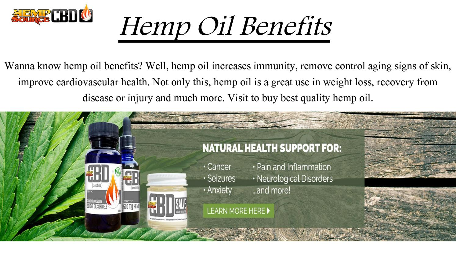 Hemp Oil Benefits Hempsourcecbd By Steven Dwight Issuu