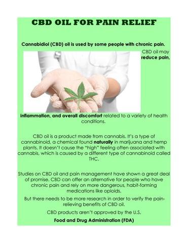 Cbd oil for pain relief by cbdsupermarketuk - issuu