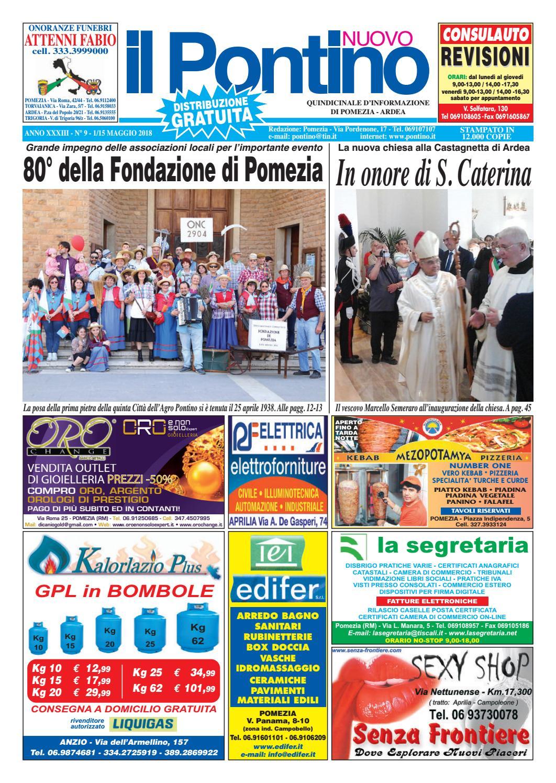 Il Pontino Nuovo - Anno XXXIII - N. 9 - 1 15 Maggio 2018 by Il Pontino Il  Litorale - issuu a8945c4e686