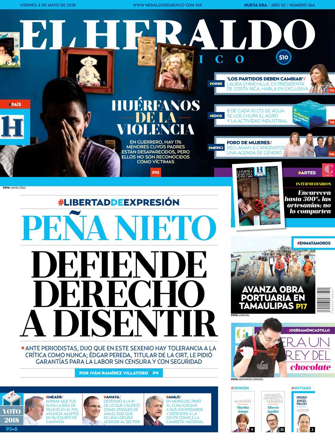 4 de mayo de 2018 by El Heraldo de México - issuu f84e5ffe4f165