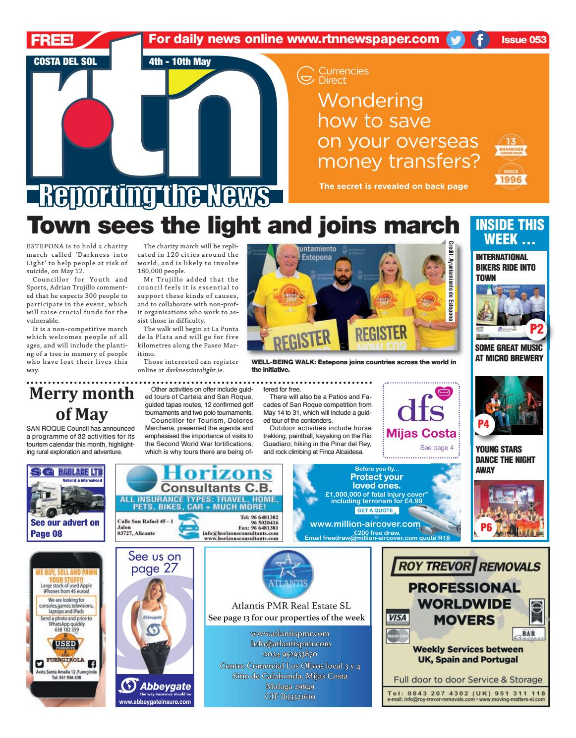 Rtn Newspaper Costa Del Sol 4 10 May 2018 Issue 053 By